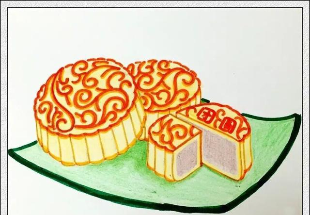 正经月饼简笔画 哈哈哈