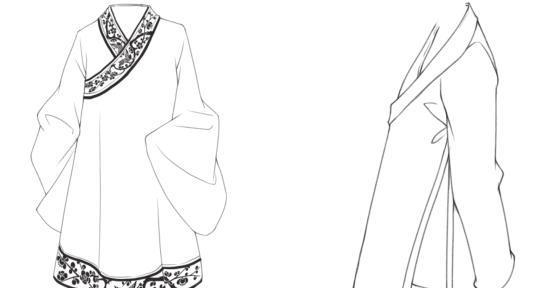 古装衣服手绘图片