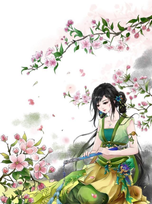 古风唯美插画:古风手绘画,气质高雅,明艳动人的古风美人!