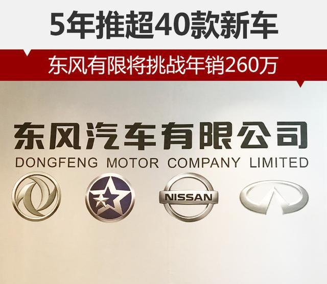 东风有限将挑战年销260万 5年推超40款新车