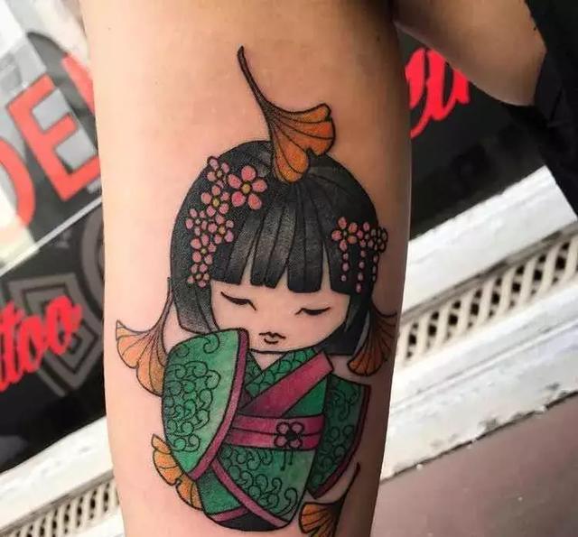纹身素材——q版艺妓图片