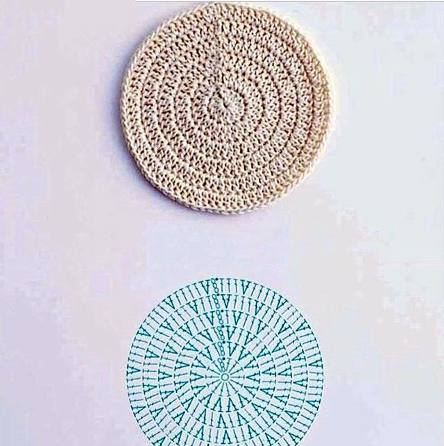 9种钩针编织圆形花型图解教程