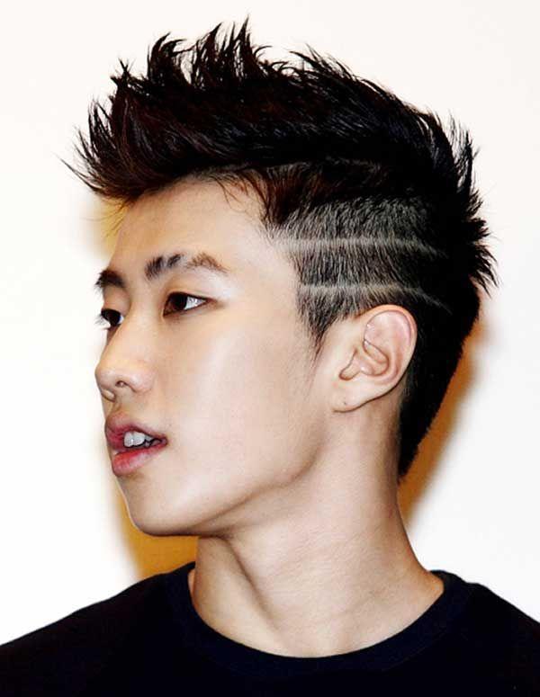 1.短而直立的发型 在两侧发型中,侧面和背部的头发剪短.图片