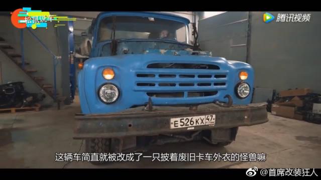 小伙花7000元买来废旧卡车,改装之后性能堪比怪兽,奔驰宝马都不换
