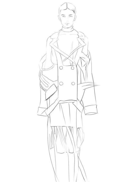 服装手绘全过程:告诉你时尚大牌制作,黑色镂空诱惑挡不住了!