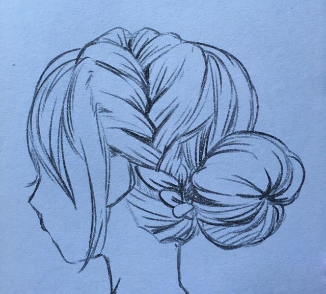 《影子漫画》教大家来画女生头发扎辫子的画法示范