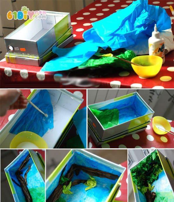 幼儿园创意手工diy教程,幼师亲子活动教案,鞋盒制作的图片