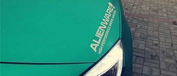 别克英朗电光绿车身改色贴膜效果图 变身暗夜精灵