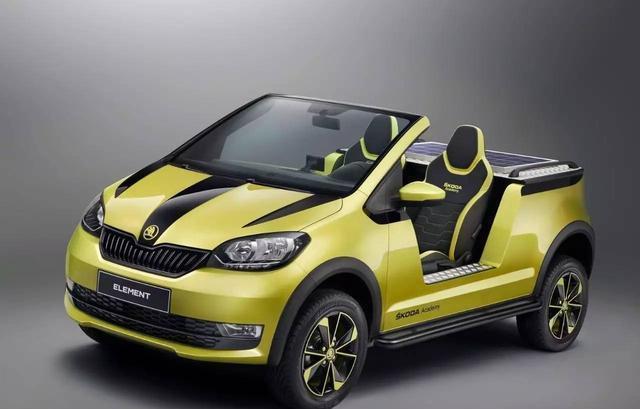 斯柯达全新敞篷车, 配太阳能充电, <em>全地形轮胎</em>, 很可能是爆款