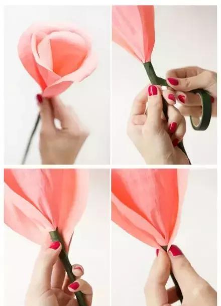六款幼儿园玫瑰花的手工制作教程,太美了!