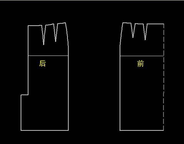 由于直筒裙在制图时加入的松量较少,所以放做缝应较一般服装要宽一些.