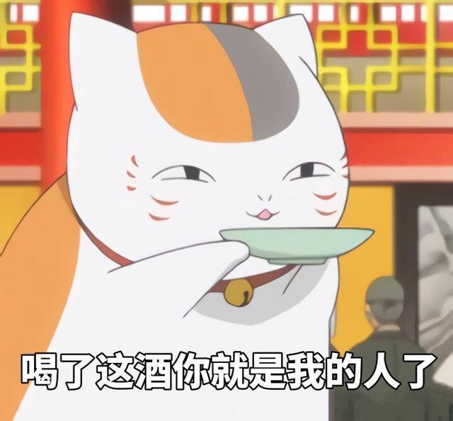 《夏目友人帐》猫咪老师的表情包,女朋友看到心都萌化图片