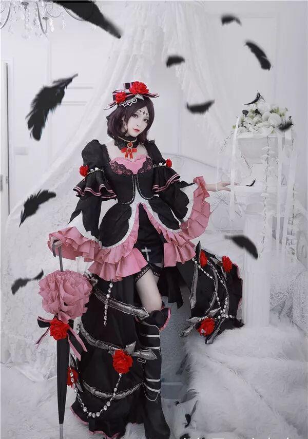 王者荣耀cos:哥特玫瑰的露娜,真的就是黑衣天使