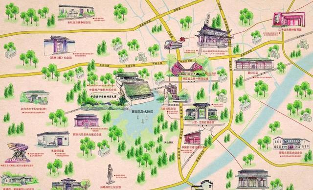 杭州红色博物馆联盟首张手绘地图发放