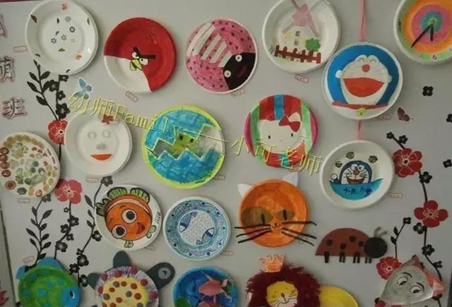 纸盘diy在幼儿园算是比较常见的啦,但是往往越是多就感觉越没有灵感图片