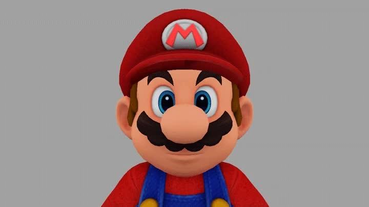 超级马力欧奥德赛 中的马力欧 3D 模型,看看他在旅途中的各种表情的背后...