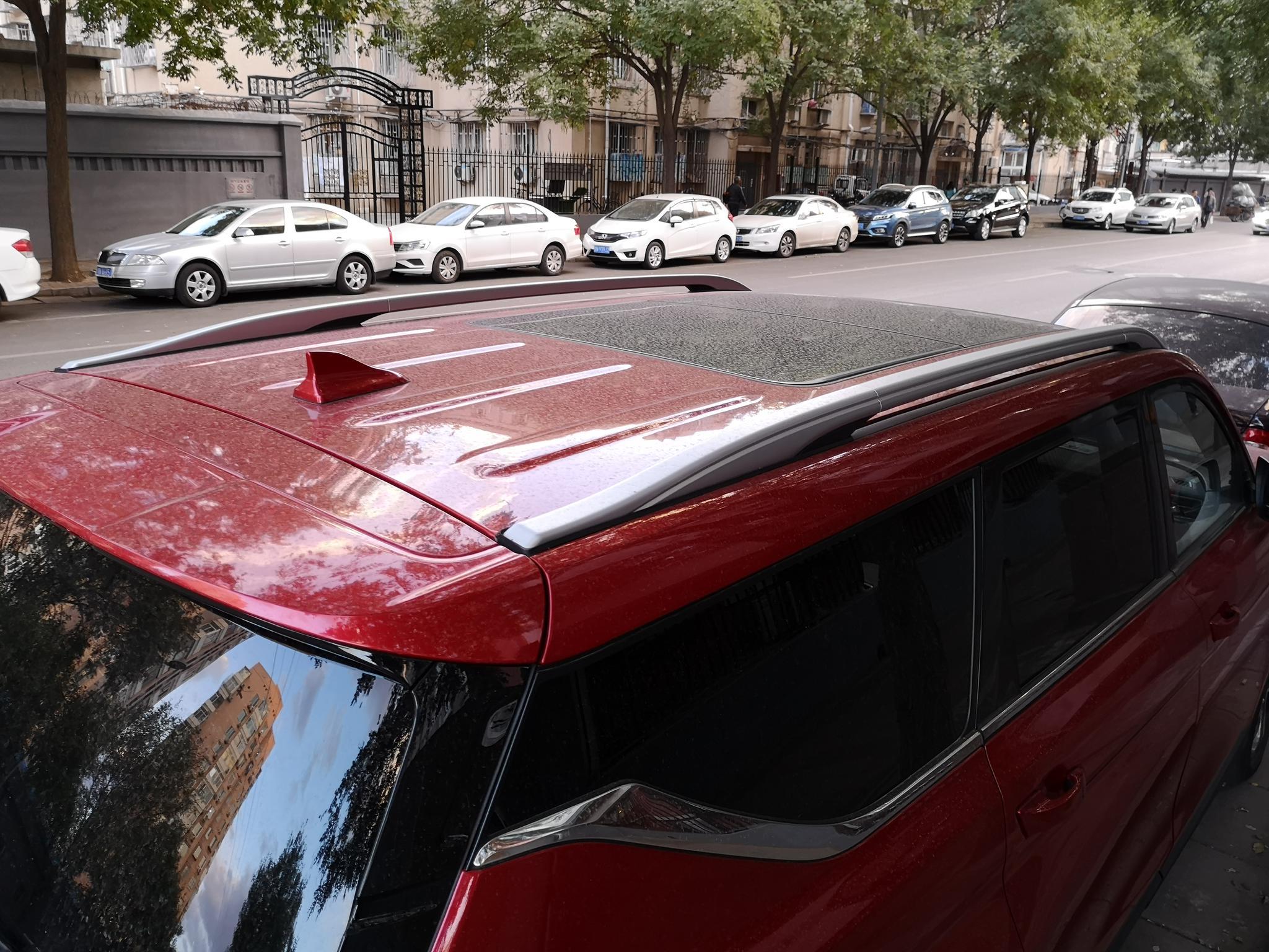 大就一个字 路遇长安欧尚COS1°科赛拉风红色实车
