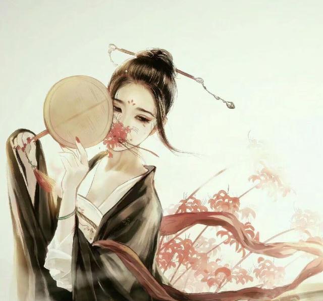 古风手绘美人江山图