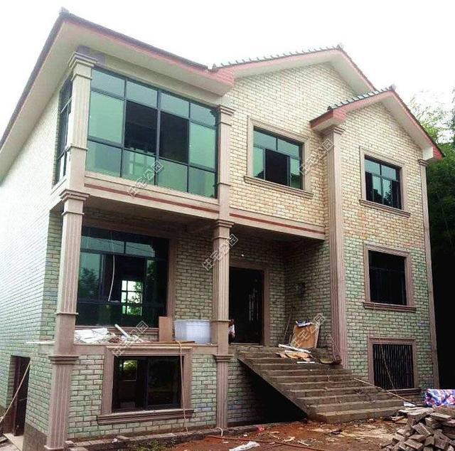这栋浙北三层农村别墅, 带地下室建好才花25万! 这价