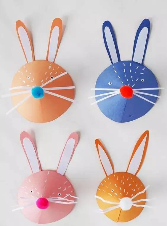 注意哦,兔子的眼睛不要剪太大啦,小小的圆眼睛才可爱哦