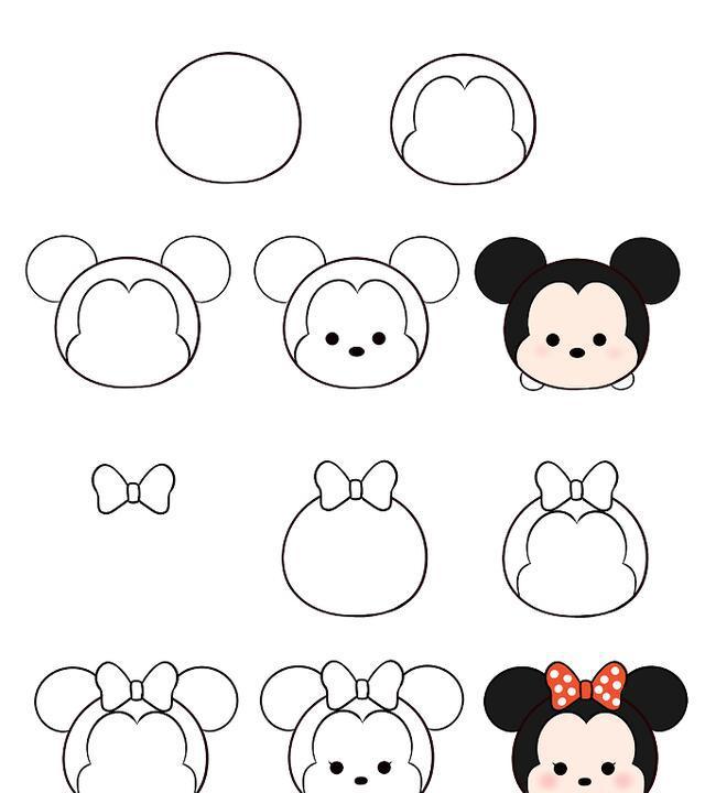 迪士尼系列简笔画,简单又有趣!图片