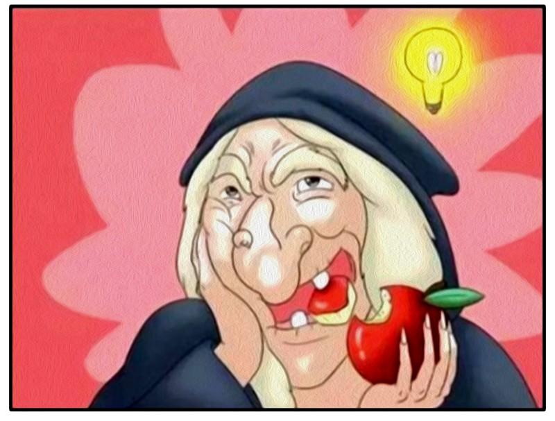 搞笑漫画:吃了毒皇后的坏漫画苹果葫芦丝图片