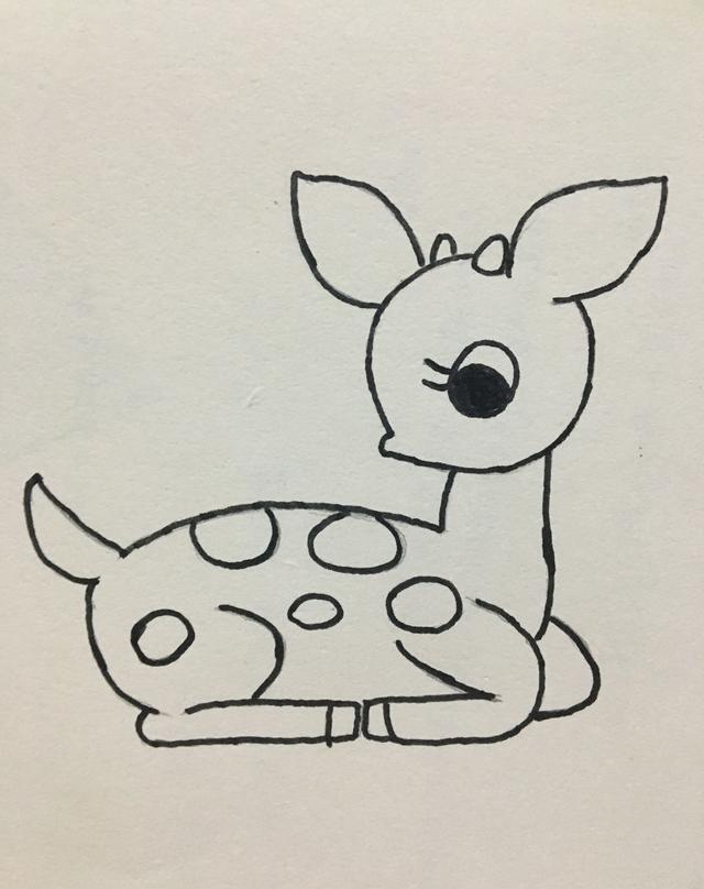 可爱的小鹿就画好了哦 夏天妈妈会持续更新,欢迎关注!
