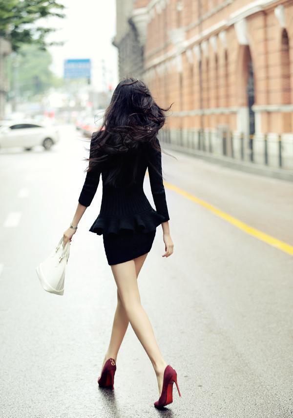 有种美是只看美女动心人就让街拍背影时尚火记美女战影图片