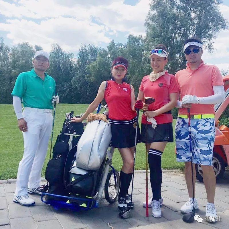 雪茄社高尔夫球队与木兰女子队、挥杆全球高尔夫俱乐部举办联谊赛