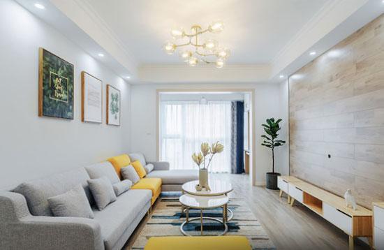 邻居家96平米简约风格装修很清新, 电视背景墙头次见!