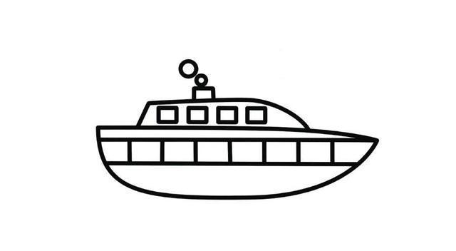 这几款小船主题简笔画,家长老师请收好!帮孩子认识水上交通工具