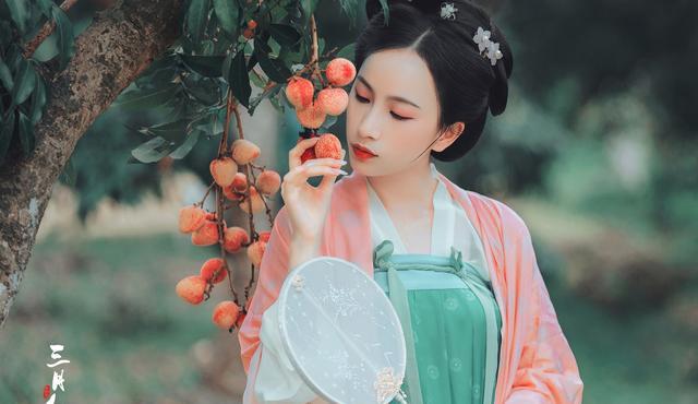 古装美人 汉服古风美女粉红撑伞清新华丽写真 清爽壁纸