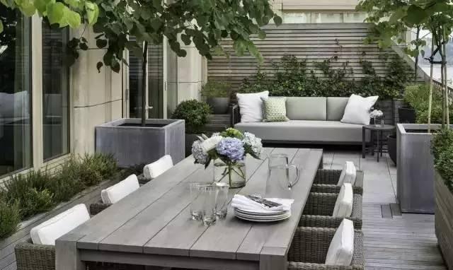 现代露台花园设计实景大全