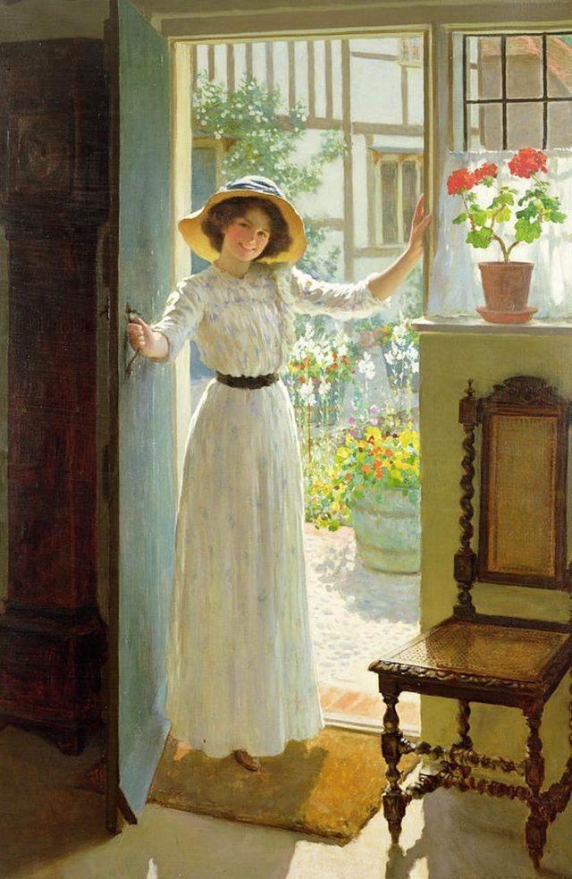 做一个优雅知性的女子,19世纪英国画家 william henry图片