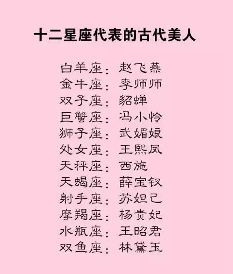 狮子座武媚娘男生座王熙凤【十二星座处女最受不了星座英语女生图片