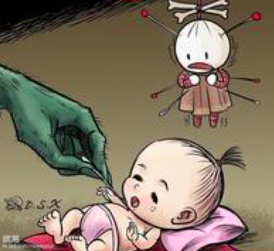 为了要生男孩, 这二傻父亲竟然这样对待刚出生的小宝宝!图片