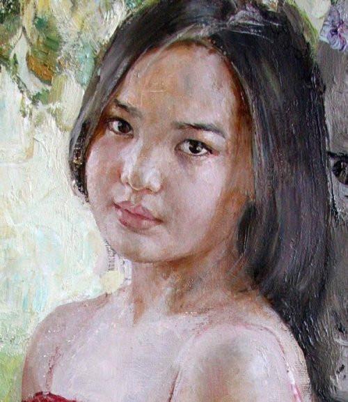 俄罗斯女画家娜塔莎女孩系列油画作品欣赏图片