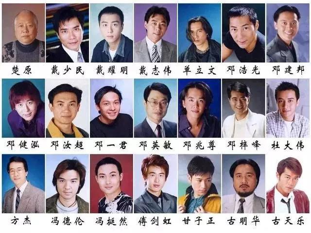 243位香港电视剧演员,面孔都很熟悉,你们认出个有哪些好看的现代电视剧关于爱情的图片