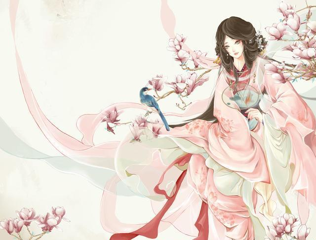 最美古风赏析:古风手绘插画,花枝招展,光彩照人的古风