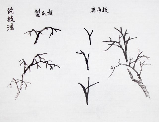 手绘树皮怎么画