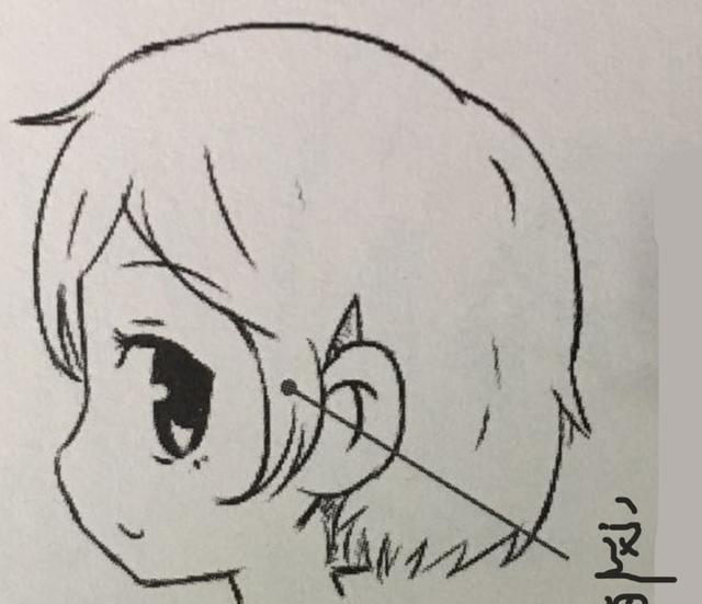 女生侧面影子手绘