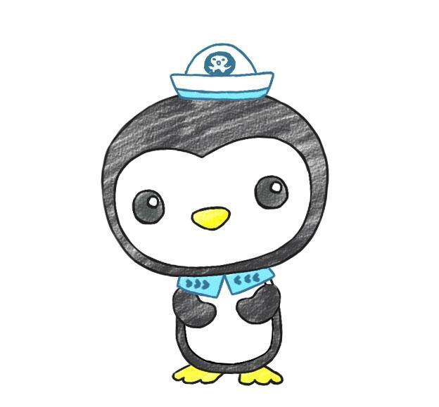 儿童简笔画,画一只萌萌的小企鹅皮医生!海底小纵队!