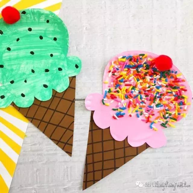 幼儿园夏日主题手工教程:小船甜筒编织太阳等,嗨到纸盘也疯狂!