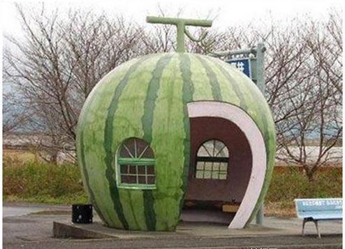 全球创意公交车站,等车的快乐