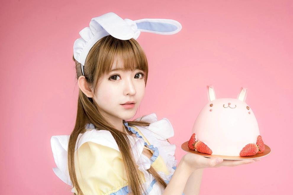 清纯粉嫩可爱兔女郎美少女娇巧甜美俏皮可爱唯美高清写真