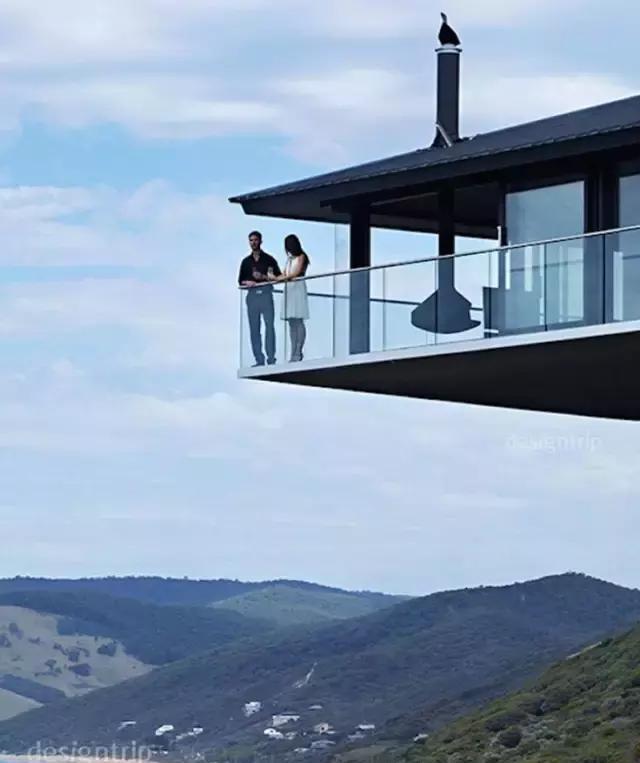一栋坐落tulahouse的农村,叫做在太平洋中距海平面,13余米的别墅之层设计图悬崖两别墅图片