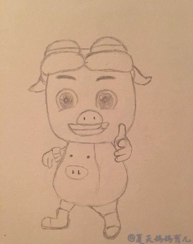 简笔画——猪猪侠的画法