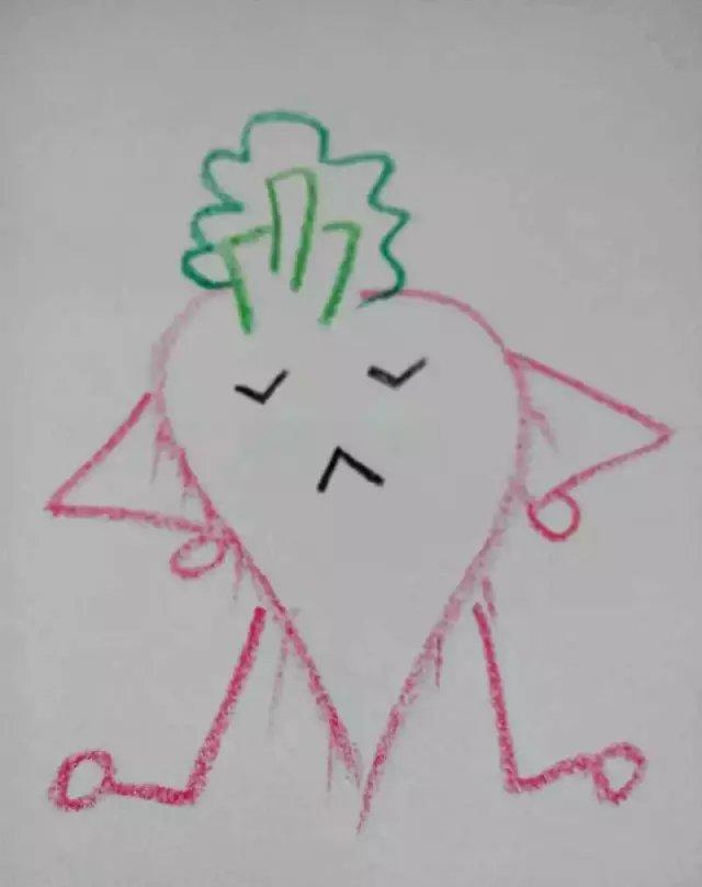 幼儿园简笔画 宝宝一学就会的可爱萝卜人