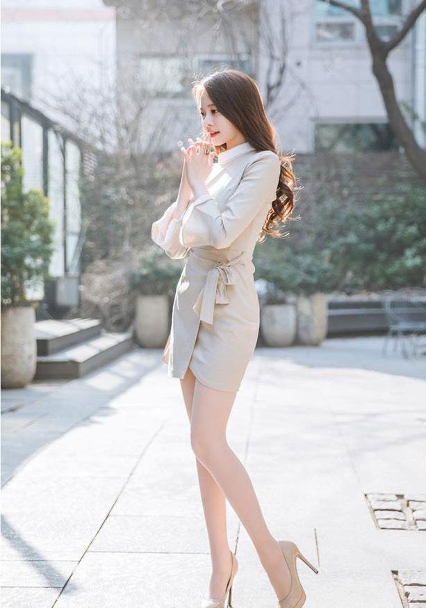 包臀裙显年轻活力, 可以美丽上班, 给人一种大长腿的魅力