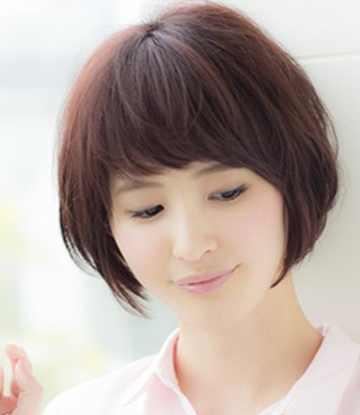 圆脸学生适合什么发型? 2017年夏季圆脸女学生流行发型图片图片